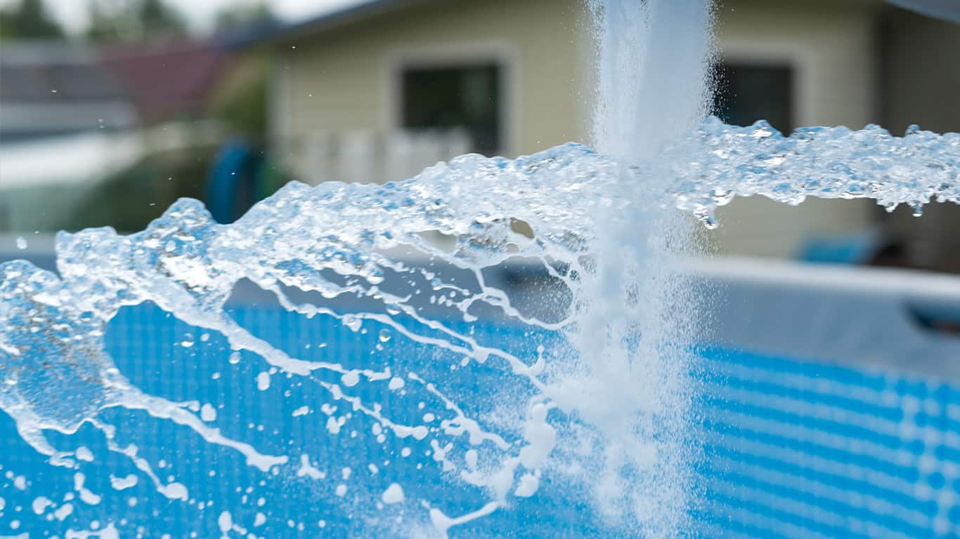 Putting chemicals in your swimming pool